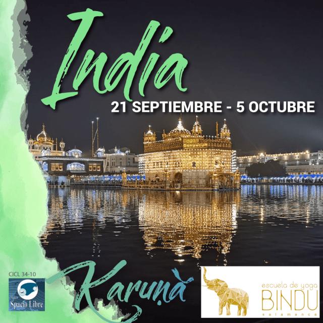 India – 21 de septiembre al 5 de octubre 2019